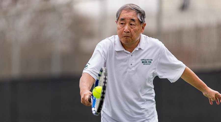 TC Chang of Houston proves your never too old for tennis.  At 82 years old, he remains active on the tennis scene.