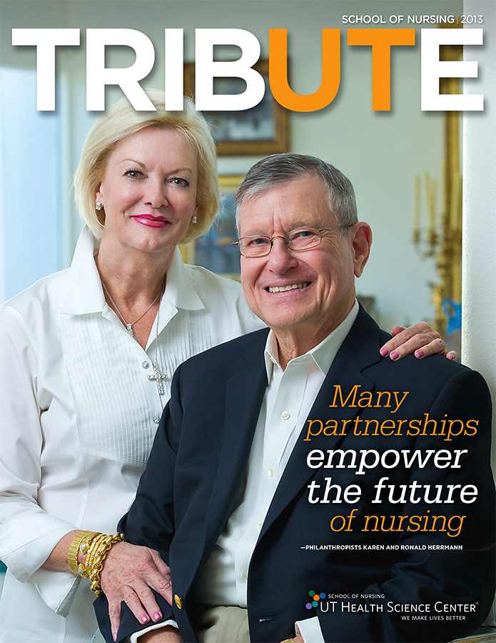 Philanthropist Karen and Ronald Herrmann photographed in their beautiful home in Olmos Park for the University of Texas Health Science Center Nursing School Tribute magazine. As the photographer for the UTHSC, one of my duties is to take branding and marketing photos that represent the mission of the school