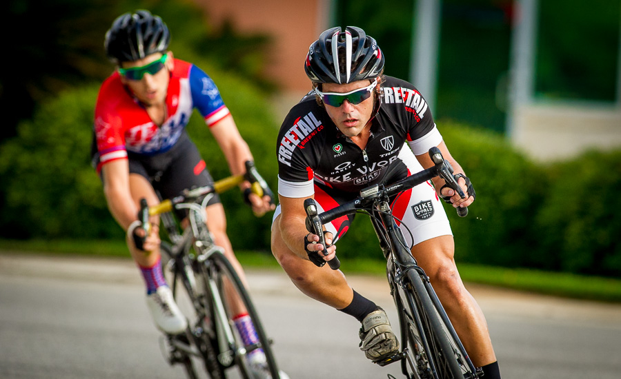 Cyclists competing in the University Oaks Criterium in San Antonio.  Click here to order images