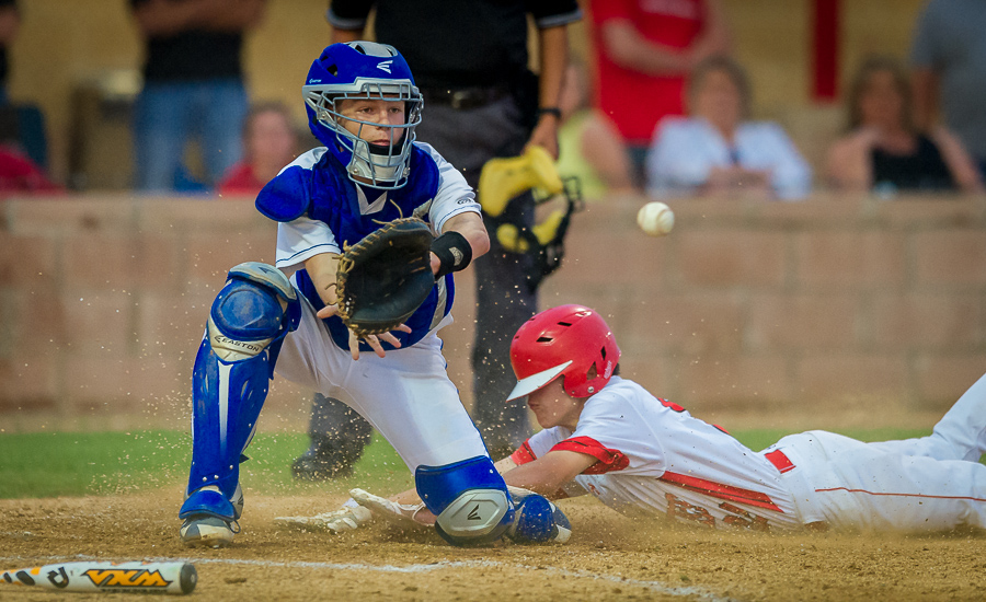 Bandera Bulldogs catcher Trey Schwarz waits for the ball during the game against Fredericksburg.  Nikon D3s with 400mm f/2.8 lens.  Click here for more photos.